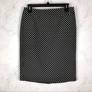 [Ann Taylor] Polka Dot Pencil Skirt